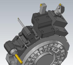 Mastercam mill-turn 3D orodja in blok držala