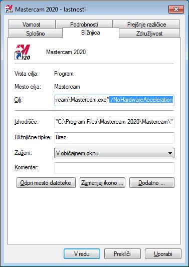 Hardware acceleration mastercam