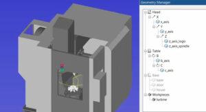 definicija 3D modela stroja - simulacija NC kode