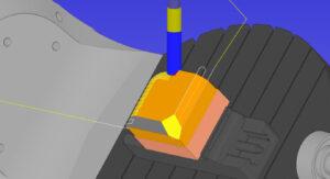 Odstranjevanje materiala - CIMCO NC Machine Simulation
