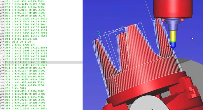 CAD/CAM simulacija NC kode obdelave.si Mastercam